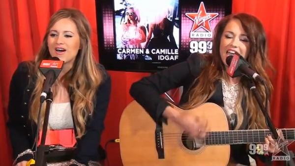 Carmen & Camille - Live Acoustic IDGAF Virgin Radio