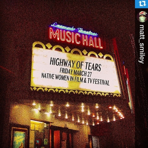 "Check out @highwayoftears at the www.nativewomenfilmtv.com this Fri. March 27 at 6:00pm (red carpet) 9036 Wilshire Blvd, Beverly Hills, CA, followed by a Q&A + tribute to Misty Upham and a screening of ""Frozen River"" (Melissa Leo @markboonejunior... Featuring music by yours truly ❤️"